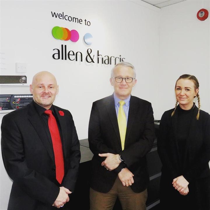 Sales Team - Branch Manager Tim Davies, Sales Manager Jason Deslandes, Regional Sales Manager Kelly Morris