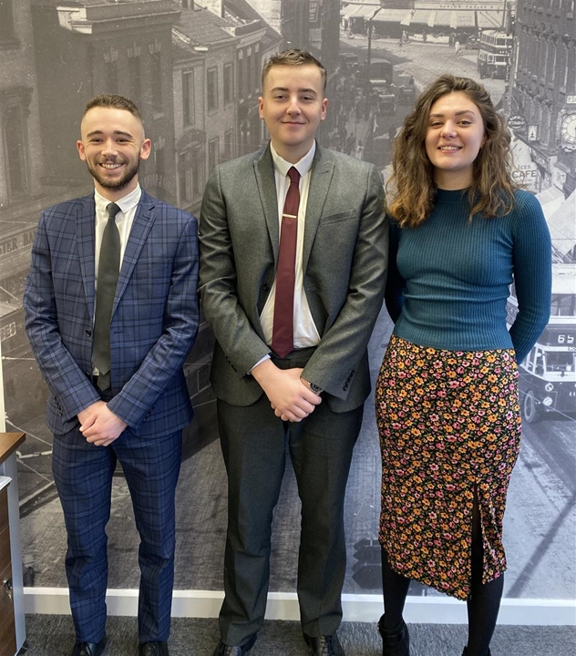 The Derby Lettings Team: Leonie King (Lister), Sophie Houghton (Manager) and William Quinn (Negotiator)