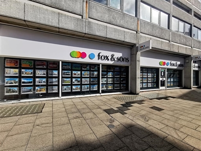 Fox & Sons Estate Agents in Hastings - offering the largest window display in Hastings.