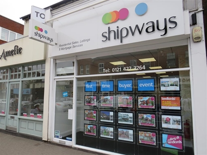 Shipways, High Street Location, Harborne Village, Harborne Birmingham. Buying, selling, letting and renting.