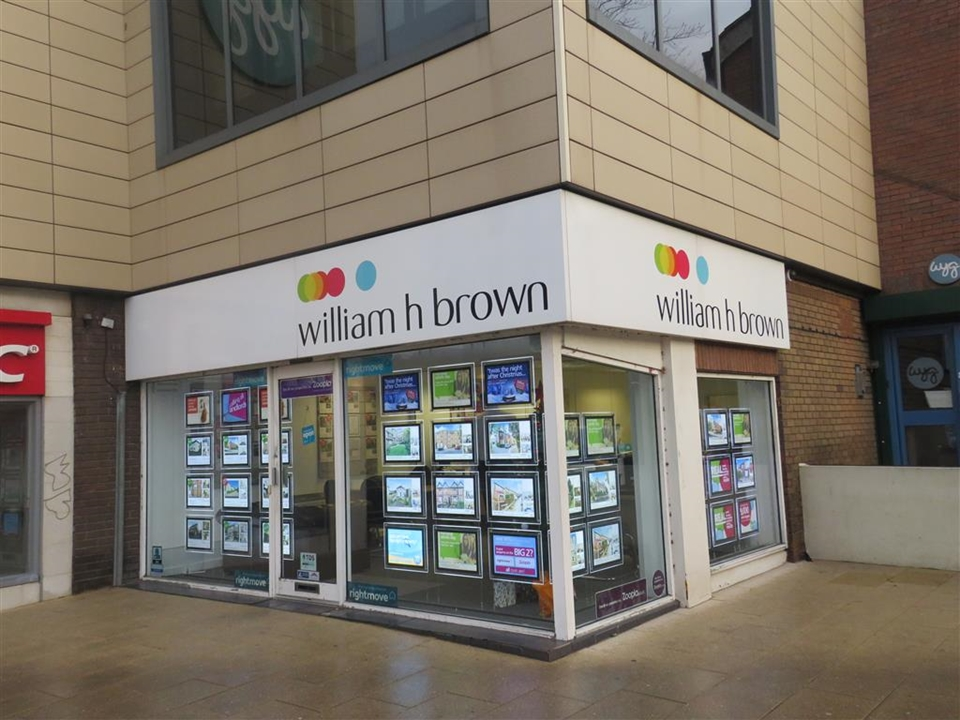 Outside the branch at William H Brown in Headingley, Leeds.