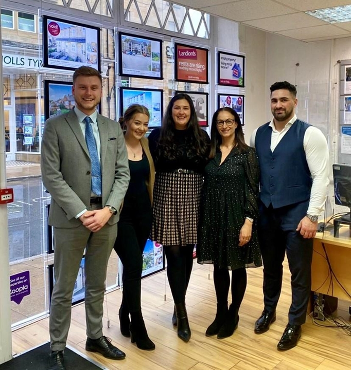Sales Manager Louise, Mortgage Consultant Emily, Sales Negotiator, Lily and Senior Lettings Manager, Susie