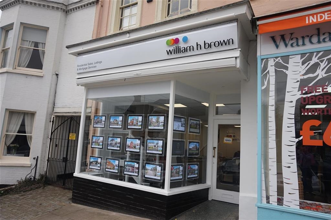 William H Brown office on Halstead High Street. Find us towards the top of the hill!