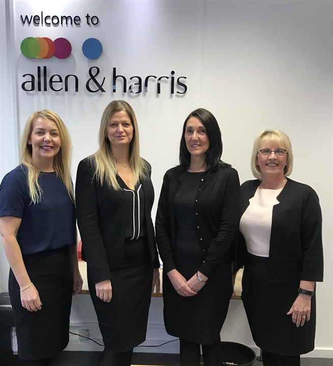 Allen and Harris Team, Joyce Meadowcroft - Valuer. Michell Grant - Mortgage Consultant. Liz Elliott -Negotiator. Julie Walker - Branch Manager.