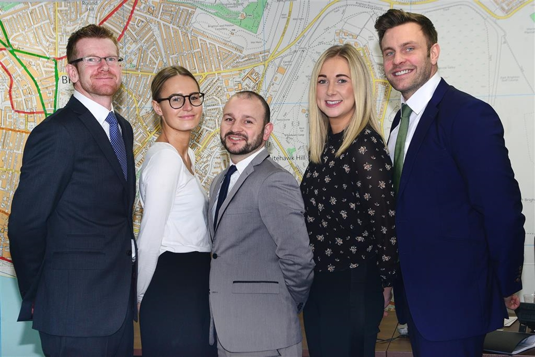 The sales team; Edward Middle, Ben Vasey, Phoebe Huggins,Giselle Brindley Michael Varagoulis,