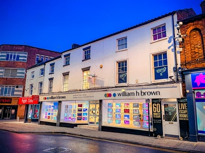 William H Brown estate agents are located within the heart of Silver Street in the centre of Lincoln offering a full range of services.
