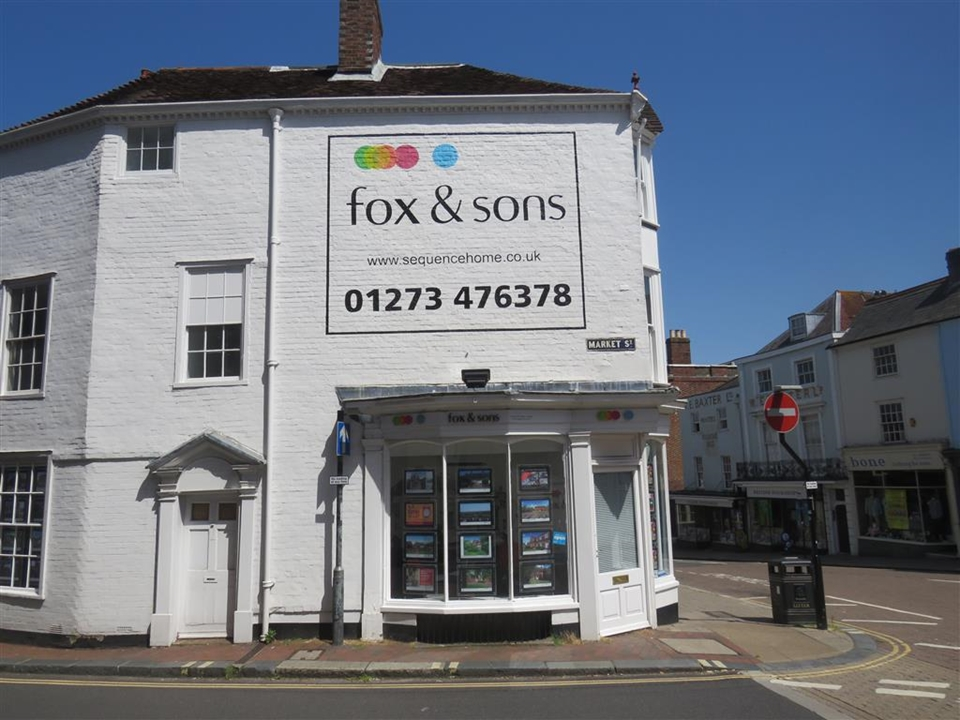 Fox & Sons Estate Agents in Lewes - Central and noticeable, experts in buying & selling plus a dedicated mortgage services manager located on-site.