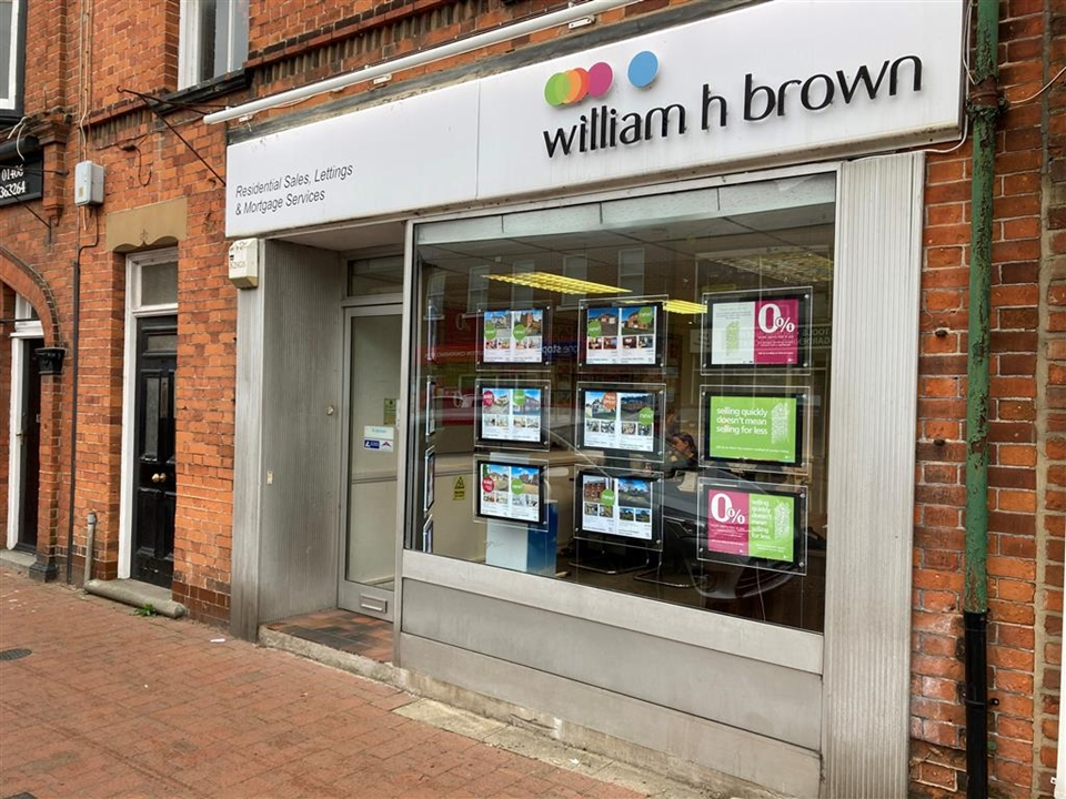 William H Brown Estate agents, centrally located  in the Market Place, free parking is available in the street.
