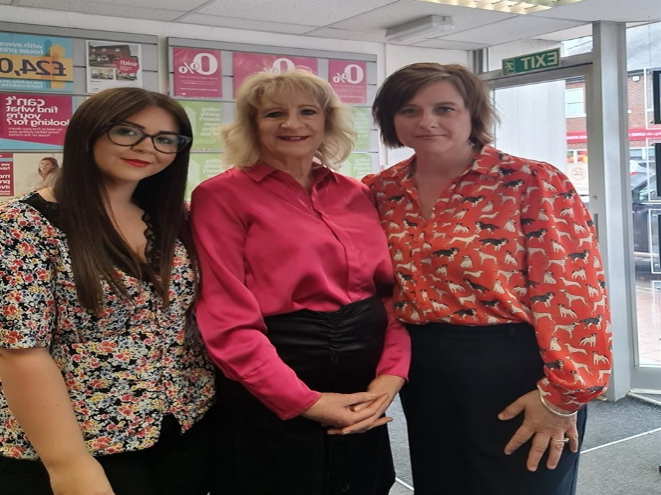 The Long Sutton Team. Carole Lee Branch Manager,  Jodie Ellis Sales Negotiator,Lorraine Administrator and David Bourner Mortgage Services Partner