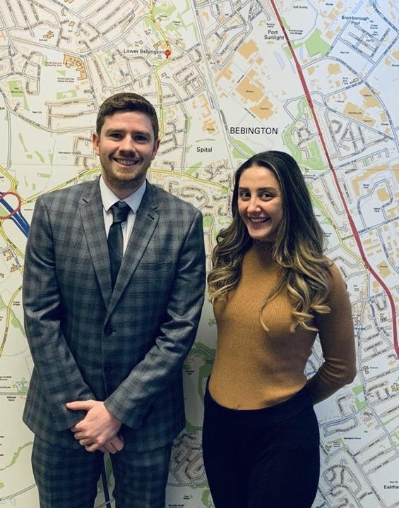 Lettings team, Jessica and Kyle.
