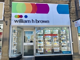 William H Brown Estate agents situated on Morley High street within close proximity to Morley train station and junction 28 on the Nm.