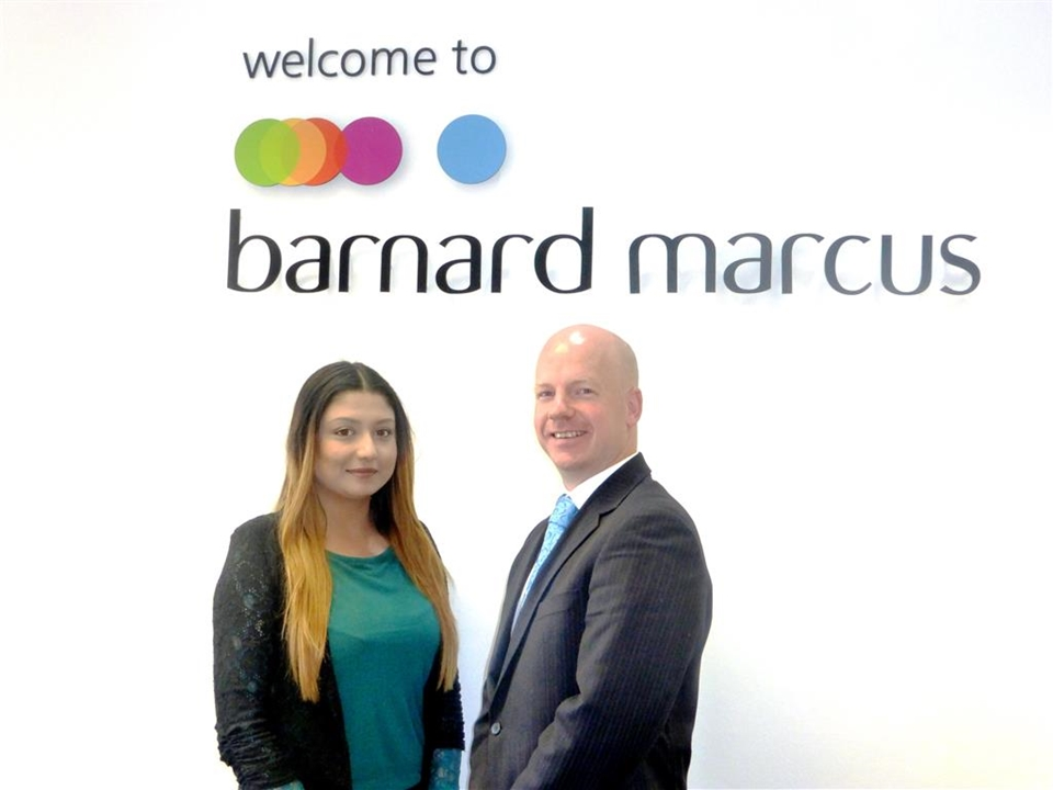 Barnard Marcus in Mitcham, Letting's Manager Vince Achampong and his negotiator Whitney Mahoney-Eaton.