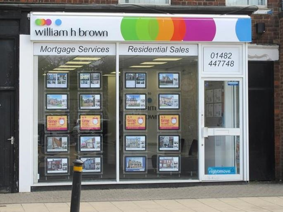 Here at William H Brown we offer a free valuation service, help to find and in house mortgage services.