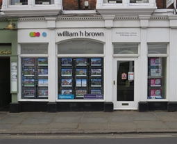 William H Brown is in a prime position in Beverley Town Centre on North Bar Within close to Saturday Market.