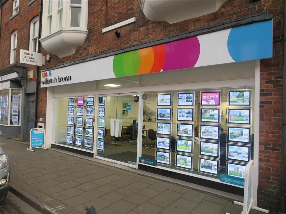 William H Brown ESTATE AGENTS in Retford situated on GROVE STREET just off  the town's Market Square.