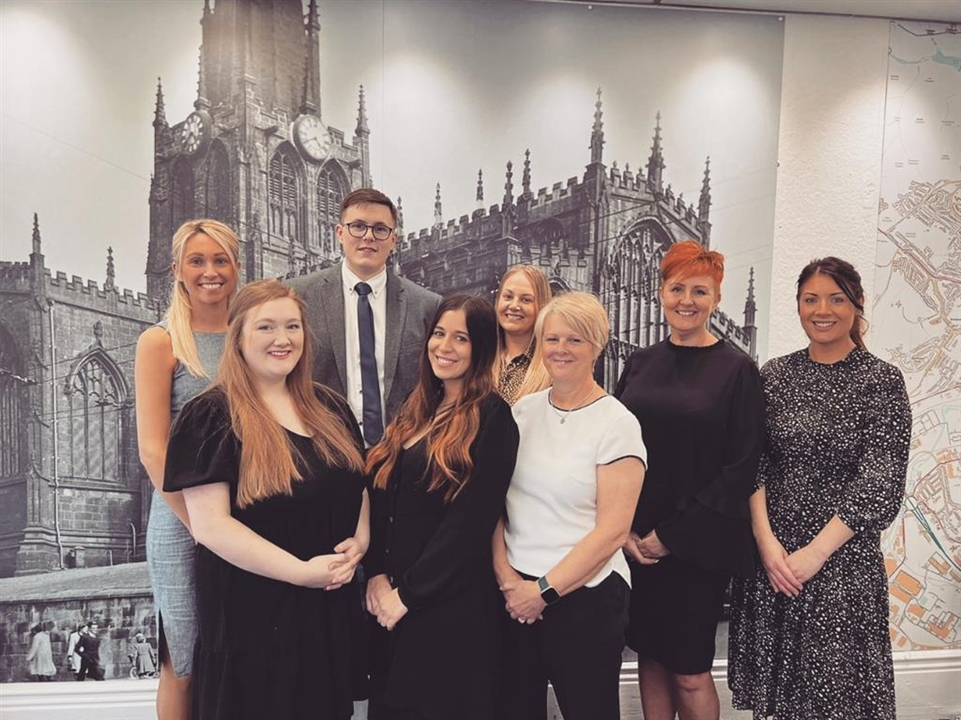 Sales Team at Rotherham, from left to right - Jake, Jai Vicky, Jesse, Jess, Rebecca (Bex), Kyle