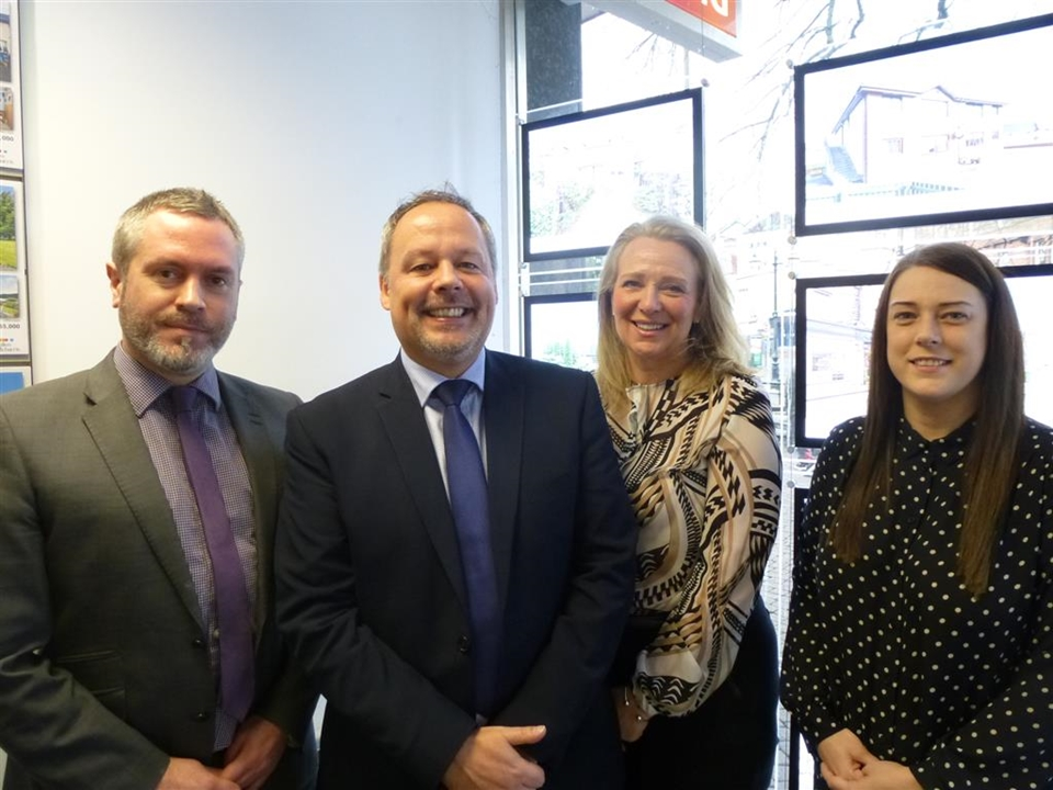 From left to right : Tony Griffith(Branch Manager), Mike Pantony(Valuer), Alison Moss(Negotiator), Helen Ford(Negotiator)