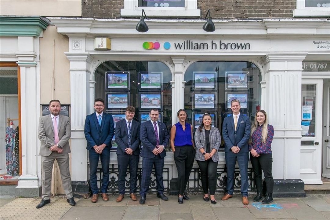 The sales team at the William h Brown Sudbury office