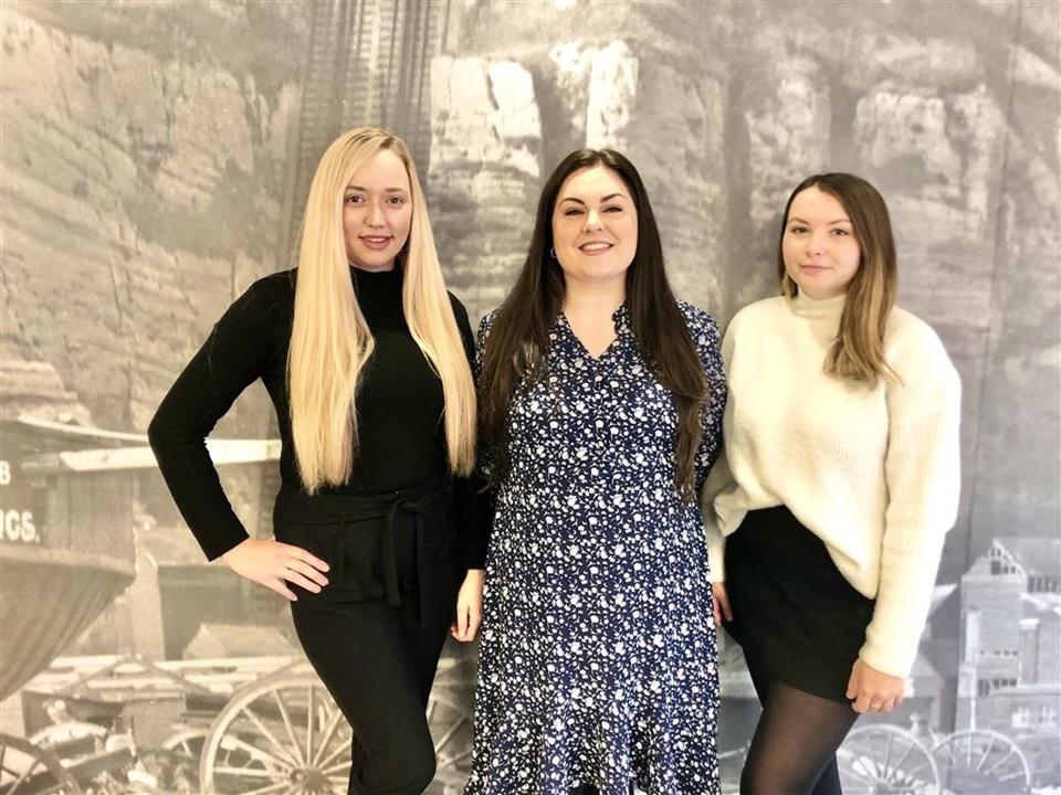 Holly Homan,  Lorna Eggleston and Alicia Sutton.