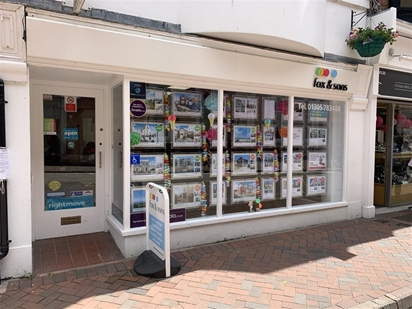Our office front in Weymouth Town Centre.