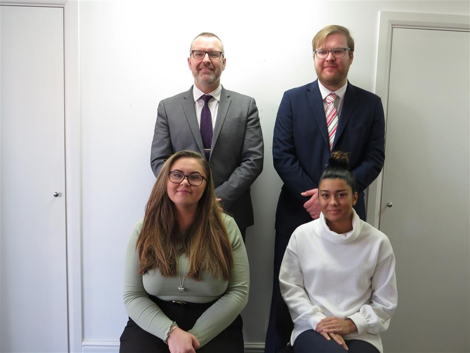 Meet team Whitchurch: Emma Field, Craig Morgan, Callum Jenkins, Charlotte Dungey & Harry Diamond