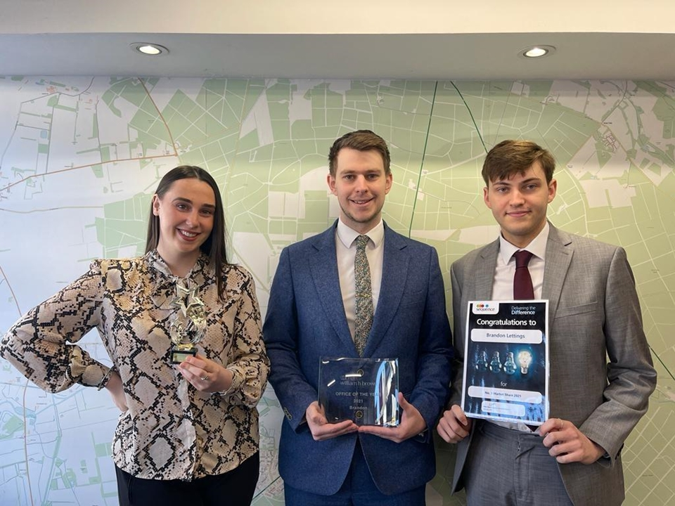 Lettings Manager Richard Thurston & Lettings Negotiator Pippa Hazelhurst