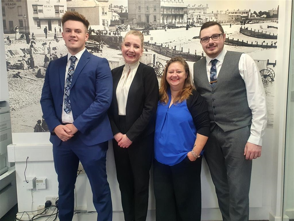 The Sales Team - Kerry Fogden, Sarah Finch, Vadmin Nikolajev, Harry Garrett, Massimo Jones