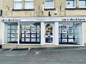 Allen & Harris Estate Agents in Chippenham, situated in the Market Place in a prominent position.