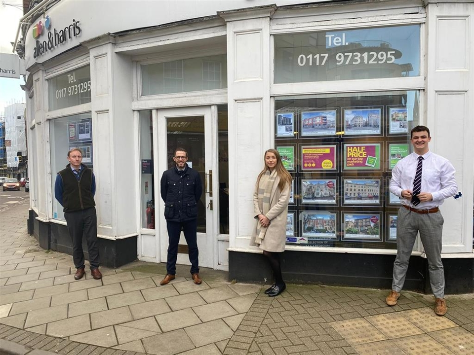 Our dedicated residential sales team at Allen & Harris Estate Agents in Clifton, Bristol.