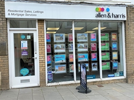 Allen & Harris Estate agents, located on the High Street in the market town of Calne